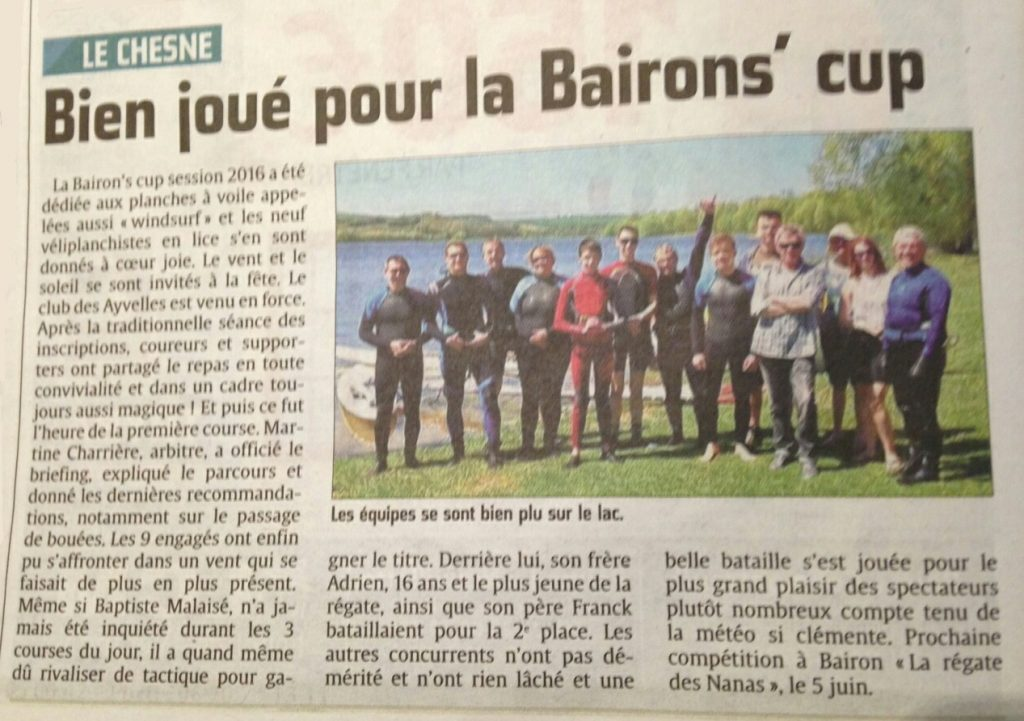 bairon's cup 2016 article